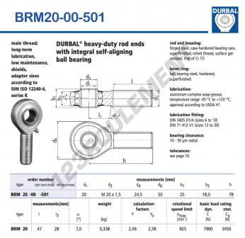 BRM20-00-501-DURBAL - x20 mm
