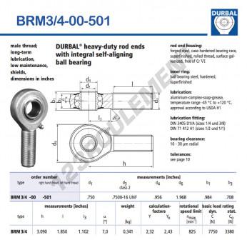 BRM3-4-00-501-DURBAL - x19.05 mm