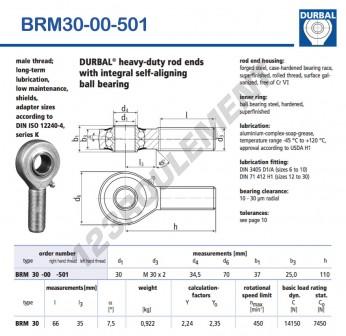 BRM30-00-501-DURBAL - 30x70x37 mm
