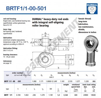 BRTF1-1-00-501-DURBAL - 25.4x63.98x30.99 mm