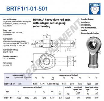 BRTF1-1-01-501-DURBAL - 25.4x63.98x30.99 mm