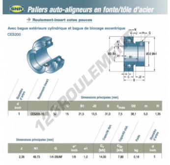 CES205-16-SNR - 25.4x52x15 mm
