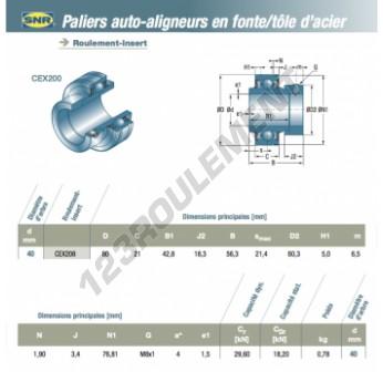 CEX208-SNR - 40x80x21 mm