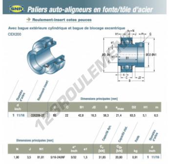 CEX209-27-SNR - 42.86x85x22 mm