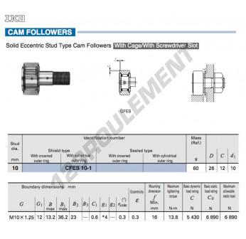 CFES10-1-IKO - 10x26x12 mm