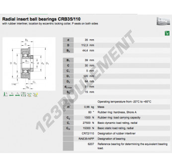 CRB35-110-INA - 35x112.3x44.4 mm