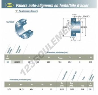 CUS210-SNR - 50x90x20 mm