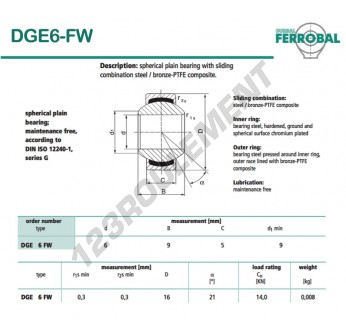 DGE6-FW-DURBAL - 6x16x5 mm