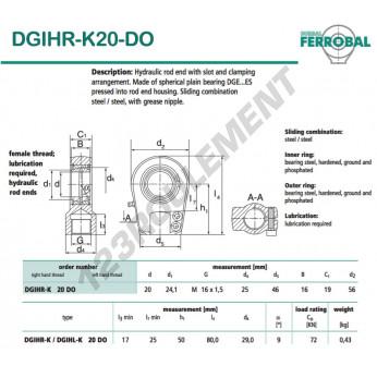 DGIHR-K20-DO-DURBAL - 20x56x19 mm