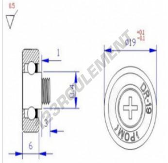 DR19C1L8 - 6x19x6 mm