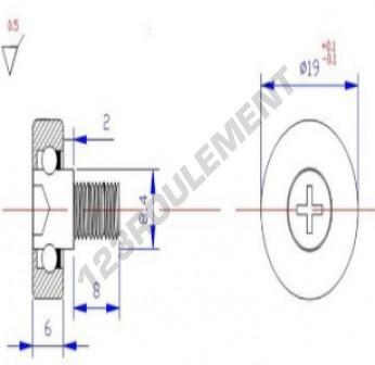 DR19C2L8 - 6x19x6 mm