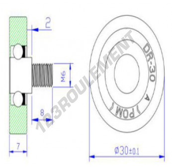 DR30C2L8 - 6x30x7 mm