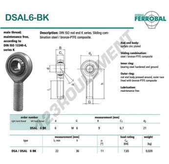 SAL6-BK-DURBAL - x6 mm