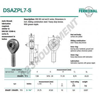 DSAZPL7-S-DURBAL - x7.94 mm