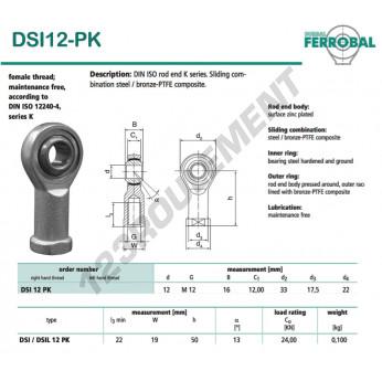 SI12-PK-DURBAL - 12x33x16 mm