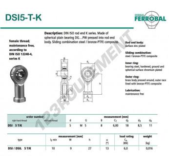 SI5-T-K-DURBAL - 5x18x8 mm