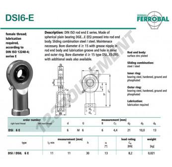 SI6-E-DURBAL - 6x21x6 mm