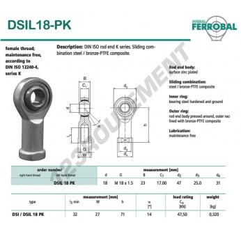 DSIL18-PK-DURBAL - 18x47x23 mm