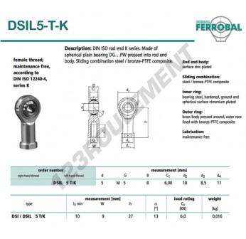 DSIL5-T-K-DURBAL - 5x18x8 mm