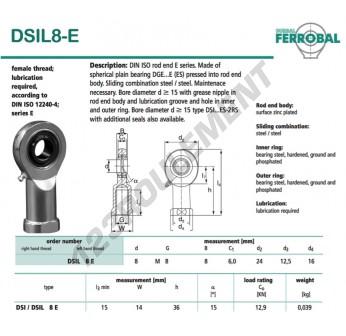 DSIL8-E-DURBAL - 8x24x8 mm