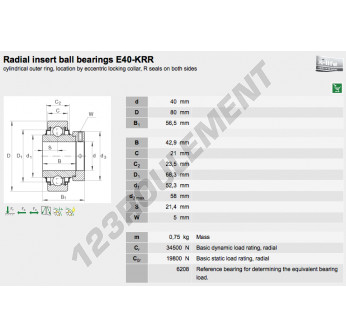 E40-KRR-INA - 40x80x56.5 mm