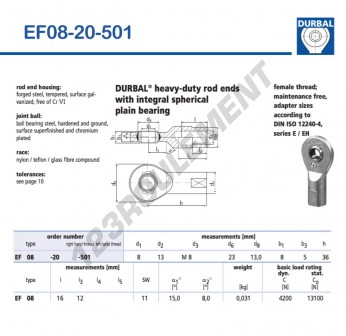 EF08-20-501-DURBAL - 8x23x8 mm