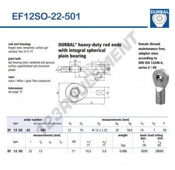 EF12SO-22-501-DURBAL - 12x32x10 mm