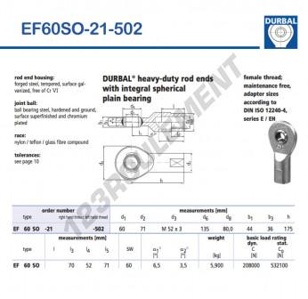 EF60SO-21-502-DURBAL - 60x135x44 mm
