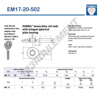 EM17-20-502-DURBAL - x17 mm