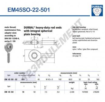 EM45SO-22-501-DURBAL - x45 mm