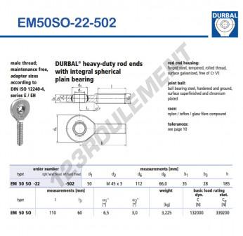 EM50SO-22-502-DURBAL - x50 mm