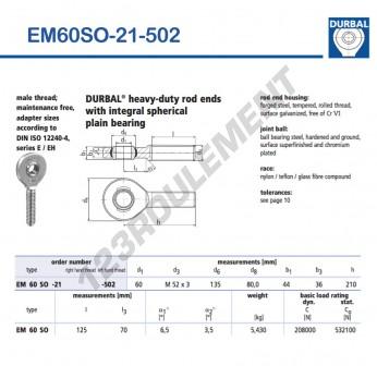 EM60SO-21-502-DURBAL - x60 mm