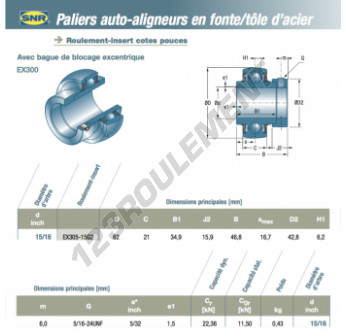 EX305-15-G2-SNR - 23.81x62x21 mm