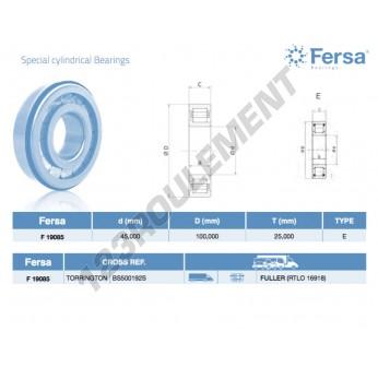 F19085-ASFERSA - 45x100x25 mm