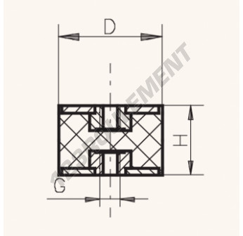 FF5045-10 - M10x50x45 mm