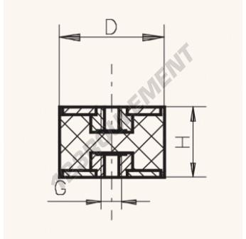 FF6050-12 - M12x60x50 mm