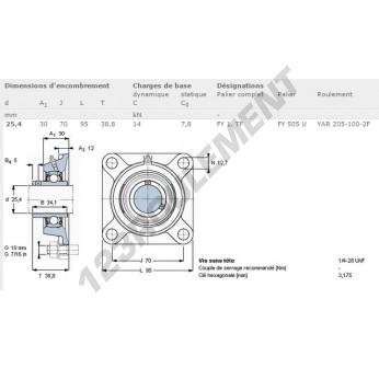 FY1-TF-SKF - 25.4 mm