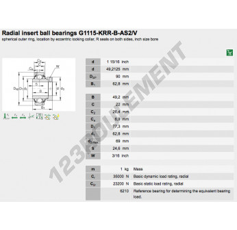 G1115-KRR-B-AS2-V-INA - 49.21x90x62.8 mm