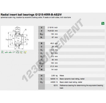 G1215-KRR-B-AS2-V-INA - 74.61x130x67 mm