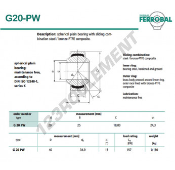 G20-PW-DURBAL - 20x40x18 mm