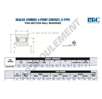 GA055-XP0-RBC - 139.7x152.4x6.35 mm