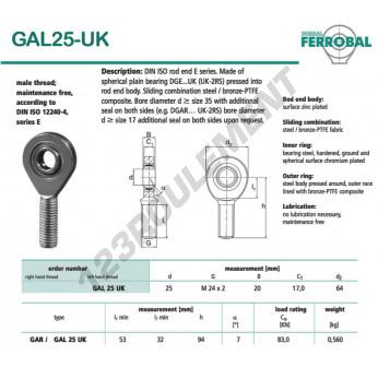 DGAL25-UK-DURBAL - x25 mm