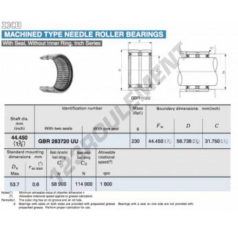 GBR283720-U-IKO - 44.45x58.74x31.75 mm
