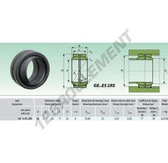 GE15-ES-2RS - 15x26x12 mm