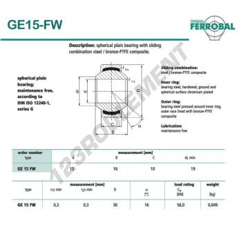 DGE15-FW-DURBAL - 15x30x10 mm