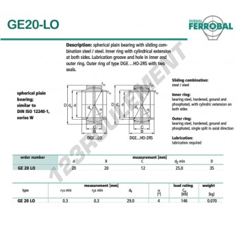 GE20-LO-DURBAL - 20x35x12 mm