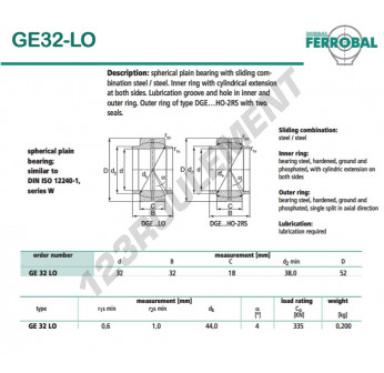 GE32-LO-DURBAL - 32x52x32 mm
