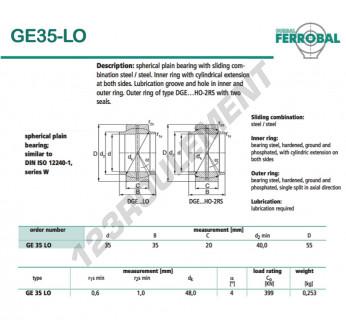 GE35-LO-DURBAL - 35x55x20 mm