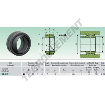 GE40-ES - 40x62x28 mm