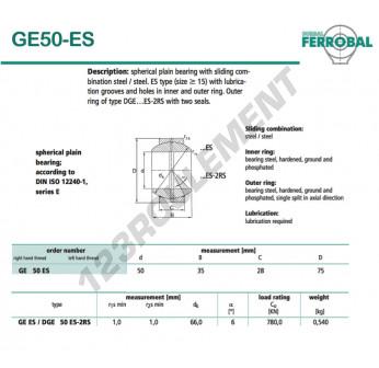 GE50-ES-DURBAL - 50x75x28 mm